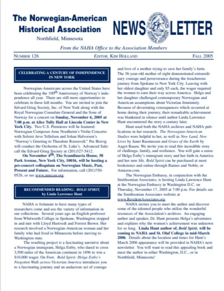 cover of fall 2005 newsletter