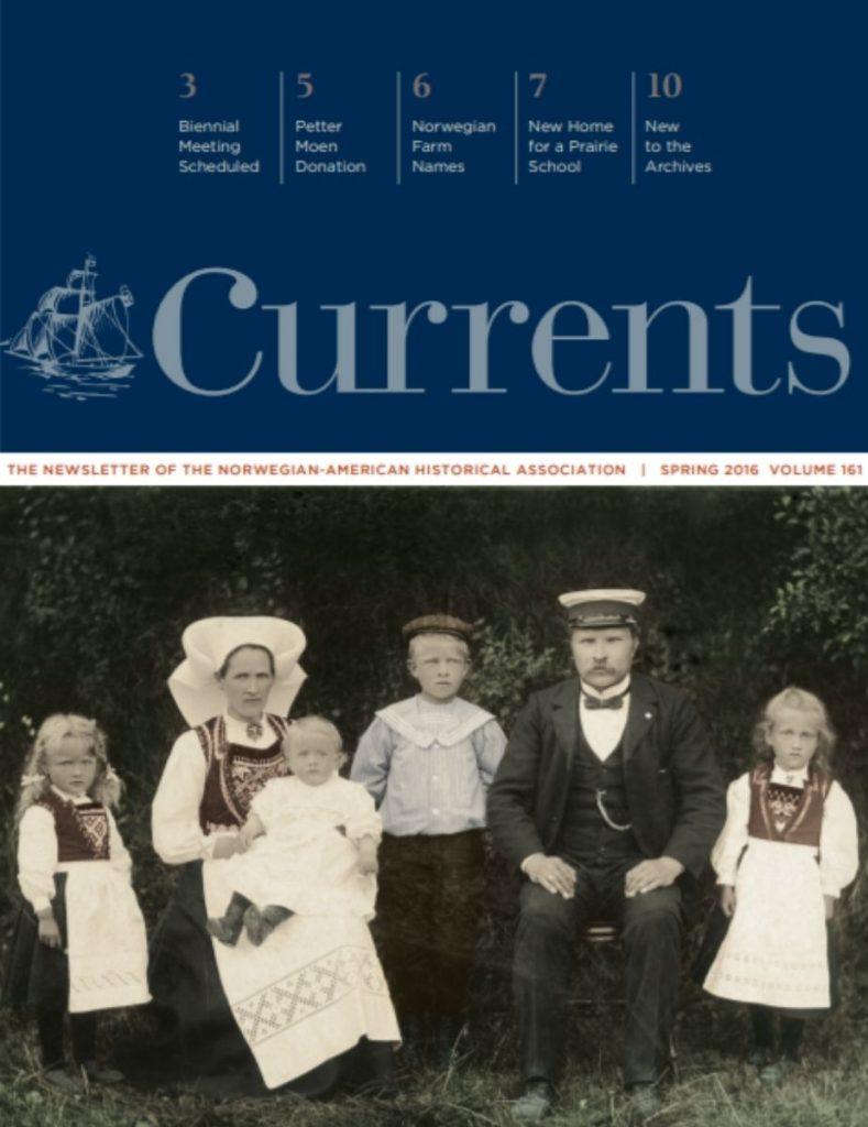cover of spring 2016 newsletter