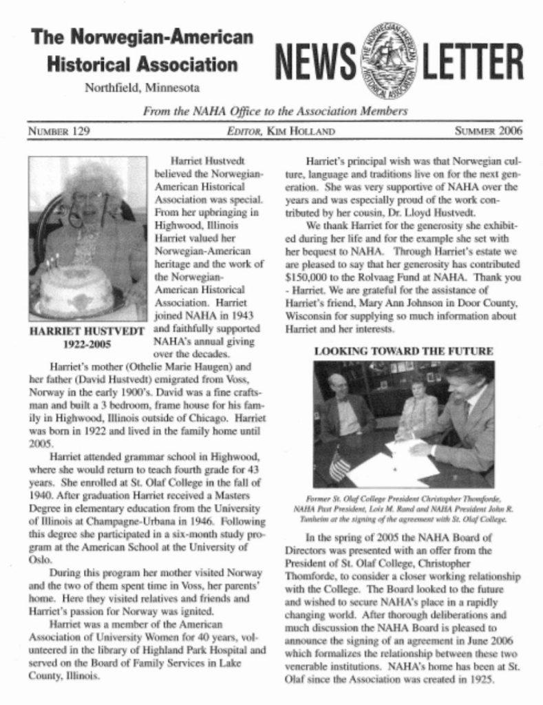 cover of summer 2006 newsletter